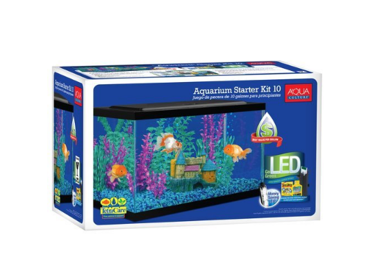 Aqua Culture Aquarium Starter Kit - best 10 gallon fish tank