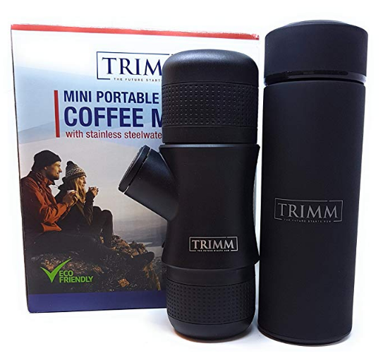 TRIMM PORTABLE HANDHELD ESPRESSO MACHINE & THERMOS VACUUM