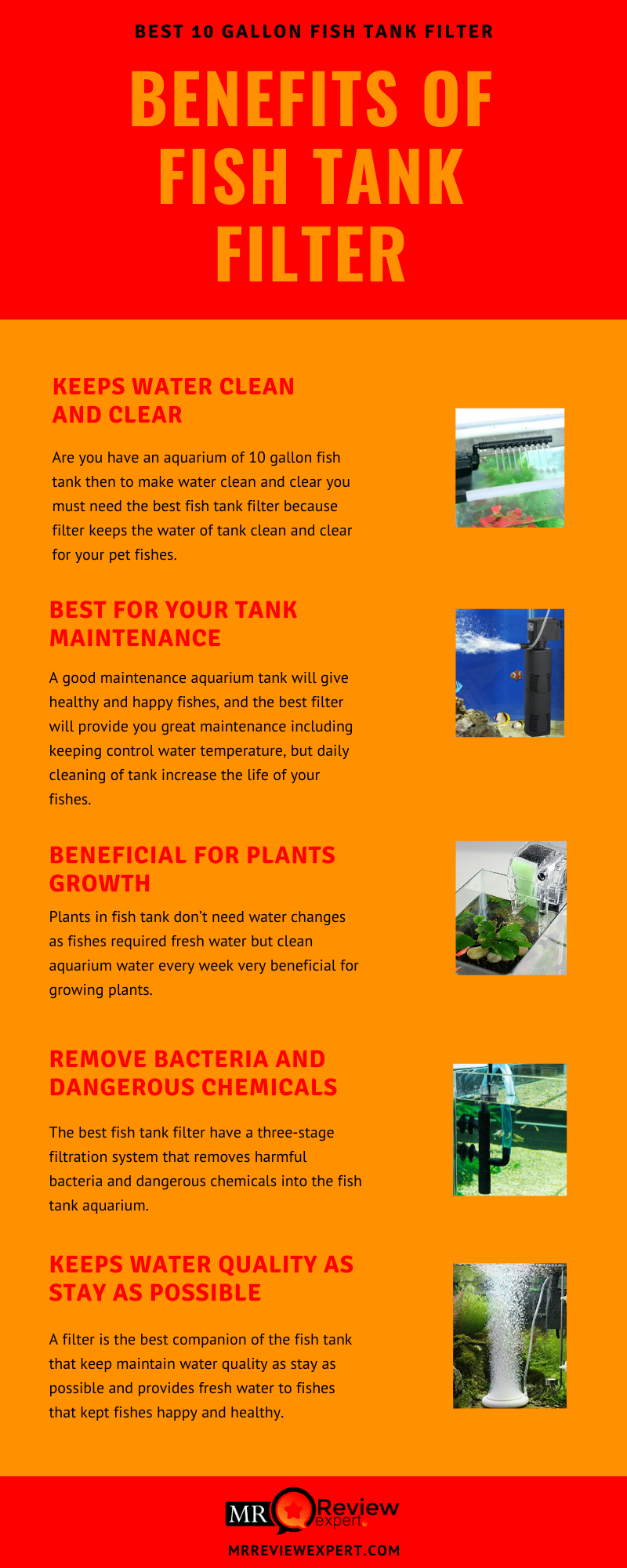 Benefits of fish tank filter