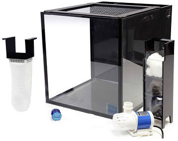 Innovative Marine Nuvo Fusion Desktop 10 Gallon Aquarium – with Mighty Jet DC Return Pump