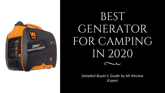 Best generator for camping in 2020