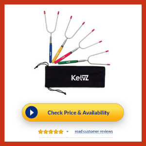 KelvZ Telescoping Marshmallow Roasting Sticks