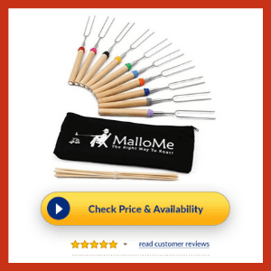 MalloMe Marshmallow Roasting Smores Sticks