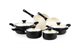 Cook N Home 10 Piece Nonstick Ceramic Coating Cookware Set