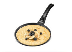 GOURMEX Black Induction Crepe Pan for pancakes