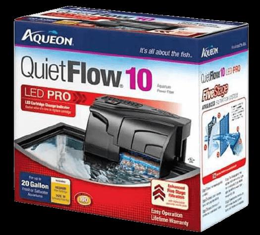Aqueon QuietFlow LED PRO Aquarium Power Filter best fish tank