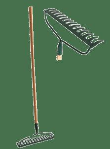 #1 HEAVY-DUTY Garden Bow Rake