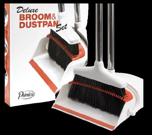 Broom and Dustpan - Upright Standing Long Handle Broom