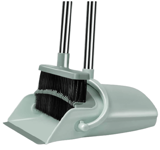 Chouqing Dust Pan and Broom, Self-Cleaning with Dustpan