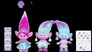 Dreamworks Trolls Poppy & Twins Celebration Pack