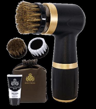 Electric Shoe Polisher Kit (4piece) Quick & Easy Shine Portable Handheld Machine for Leather Shoe Polishing