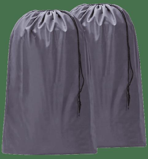 HOMEST 2 Pack Large Nylon Laundry Bag, Machine Washable Large Dirty Clothes Organizer