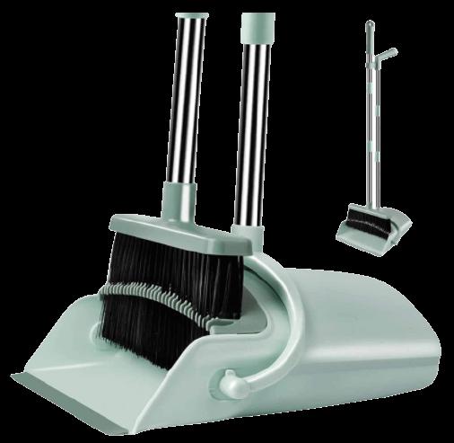 Kelamayi Broom Dustpan Set, Durable & Foldable Lobby Broom