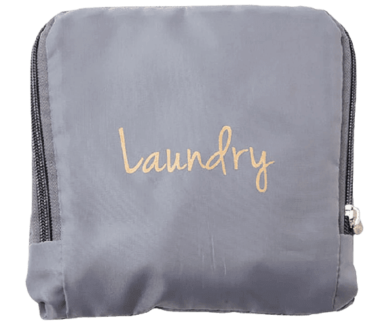Miamica Laundry Bag, Grey/Gold, One Size