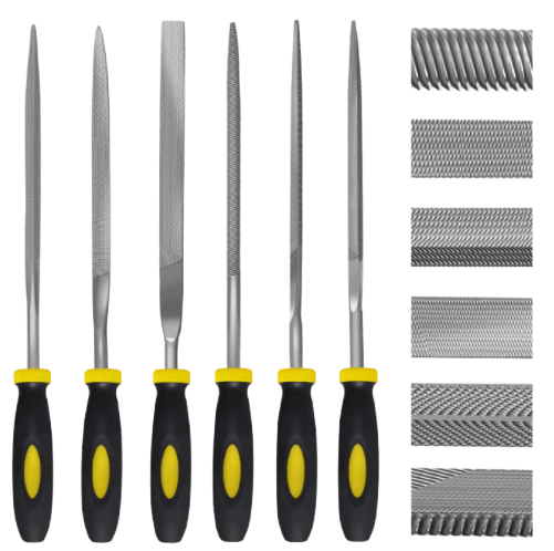 Needle File Set, 6 Pieces Hand Metal Files, Hardened Alloy Strength Steel