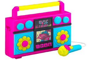 ekids Trolls World Tour Sing Along Boom Box Speaker with Microphone for Fans of Trolls Toys