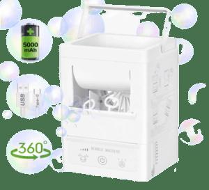 windrio Bubble Machine for Kids, Portable Automatic Bubble Blower
